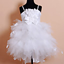Lovely Spaghetti Straps Satin/Tulle Wedding/Evening Flower Girl Dress