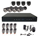 8 Channel CCTV Home Security System with 4 Indoor Sony CCD Camera & 4 Outdoor Sony CCD Camera