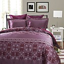3PCS Ponta Purple Jacquard Duvet Cover Set