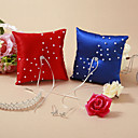 Wedding Ring Pillow With Faux Pearl (More Colors)