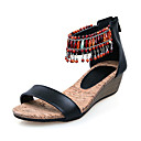 Leather Wedge Heel Sandals With Beading Party / Evening Shoes (More Colors)
