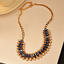 Women's Fashion Sea Blue Diamond Necklace