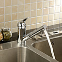 Single Handle Solid Brass Chrome Finish Pull Out Kitchen Faucet