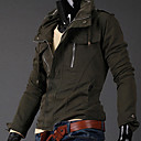 Men's Stand Fashion Zipper Slim Jacket Coat