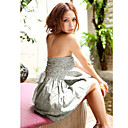 Women's Back Lace-up Bandeau Dress