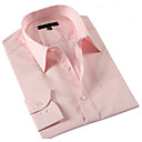 Men 's Mature Shirt Collar Men Work Pink Long Shirts