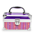 Aluminium Alloy Lockable Professional Cosmetic Box Makeup Case 16.5*8.5*9.5cm