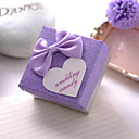 Pretty Lilac Favor Box With Bowknot (Set of 12)