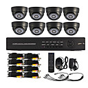 8 Channel One-Touch Online CCTV DVR systeem (8 Indoor Dome camera)