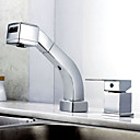 Chrome Finish Contemporary Widespread Brass Kitchen Faucet
