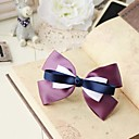 Women's Elegant Handmade Purple Bow Hair Clip