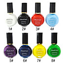 1PCS Multi-color Top Coat Nail Polish for Stamping(10ml,Assorted Colors)