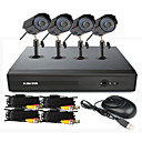 4-Kanal CCTV DVR System (UPNP, 4 Outdoor Wasserdichte Kamera)