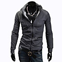 Men's Simple Scrub Stand Chain Coat
