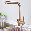 Antique Brass Water Purification Kitchen Faucet