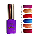 Colorato Glitter UV a colori UV Builder Gel Nail Polish n ° 19 (15 ml, 1pcs, colori assortiti)