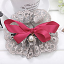 Women's Big Wine Lace Bow Hair Clip