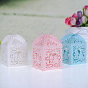 Sweet Lovers Laser cut Favor Box - Set Of 12(More Colors)
