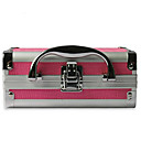 Aluminium Alloy Double-deck Lockable Professional Cosmetic Box Makeup Case 18*14*8cm
