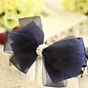 Women's Layered Lace Galloon Bow Hair Clip