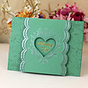 Heart Cut-out Wedding Invitation With Bowknot - Set of 50 (More Colors)