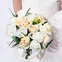 Nice Round Shape Satin / Cotton Rose Wedding Bridal Bouquet