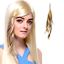 High Quality Synthetic Light Golden Hair Extension