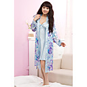 Strap Floral Silk 2 Sets Robe