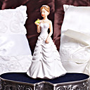 Bride Kissing Frog Prince Wedding Cake Topper