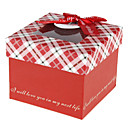 Red Gift Box With Ribbon Bowknot And Tag