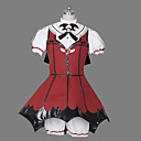 Sweet Demon Short Sleeve Short Red and Black Uniform Cloth Gothic Lolilta Dress