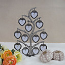 Alloy Family Tree Photo Frame With 12 Hanging Heart Shaped Frames