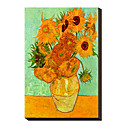 Sunflowers, c.1889 by Vincent Van Gogh Famous Stretched Canvas Print