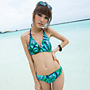Three-piece Hot Summer Print Bikini with Coverup