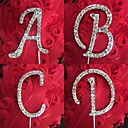 Shinning strass Monogram Wedding Cake Topper