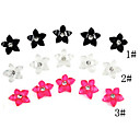 20PCS 3D Resin Finger Nail Decorations Bloemen Diamond-Studded (assorti kleur)