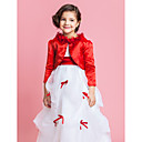 Long Sleeves Cotton Flower Girl Jacket/ Wedding Wrap(More Colors)