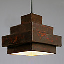 40W Retro Pendant Light avec Rusty Metal Shade