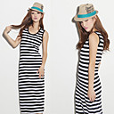 Women's Stripe Sleeveless Maxi Dress