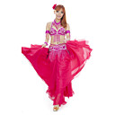 Performance Dancewear Chinlon and Spandex with Beadings and Sequins Belly Dance Outfit For Ladies More Colors