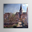 Famous Oil Painting Bennecourt by Claude Monet