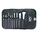 10Pcs Black High quality Makeup Brush Set With Free Leather Case