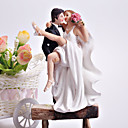 """Crossing The Threshold"" Bride & Groom Wedding Cake Topper"
