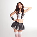 Princess Series White Top Black Skirt Sexy Uniform (3 Pieces)