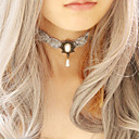 Handmade Gray Lace Flower Princess Lolita Necklace