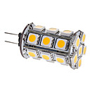 G4 3W 24x5050SMD 260-290LM 3000-3500K Warm White Light LED Corn Bulb (12V)