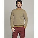 L'CART Yellow Wave Point Two Wire Knit Sweater