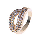 Elegant Copper Alloy CZ Rings