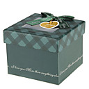 Green Gift Box With Ribbon Bowknot And Tag