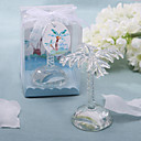 Lovely Crystal Palm Place Card Holder